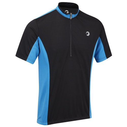 Tenn Mens Coolflo S/S Cycling Jersey – Black/Blue – Lrg