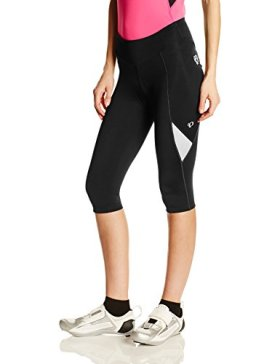 Pearl Izumi Women's W Sugar Cycling 3/4 Tights, Black/White, Medium