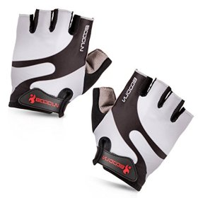 Maso Cycling Gloves with Shock-absorbing Foam Pad Breathable Half Finger Bicycle Riding Gloves Bike Gloves B-001 (Grey, Large)