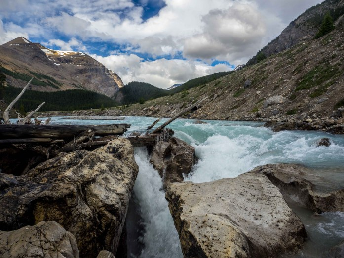 A waterfall in Banff NP.