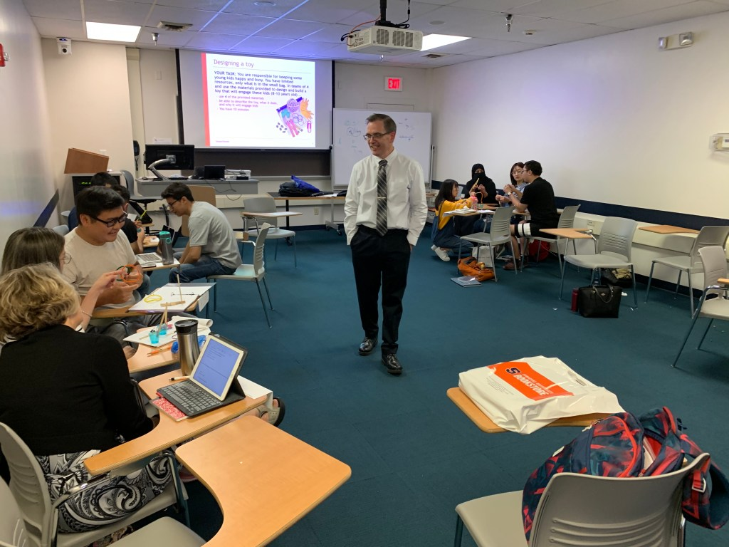 Dr. Jerry Edmonds (Canada) is teaching the first class of IDE 631 in Fall 2019