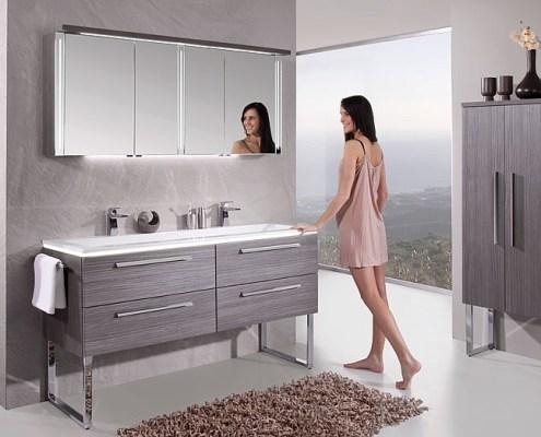 Doppelwaschtisch Spiegelschrank