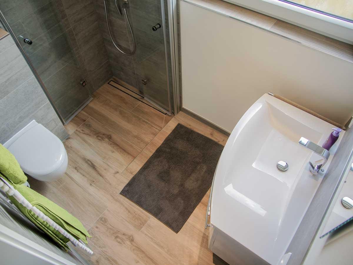 Begehbare Dusche Toilette 61