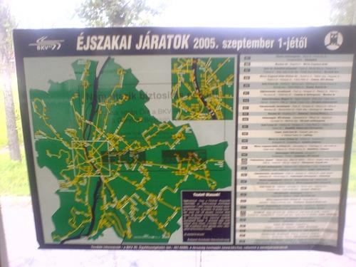 Openbaar vervoerkaart van Budapest