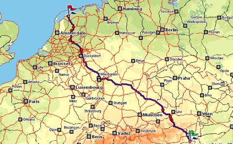 Van de Oostenrijkse grens naar Nederland
