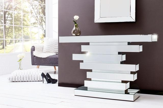 Große Stehleuchten | Verspiegelte Design Konsole Modern ...