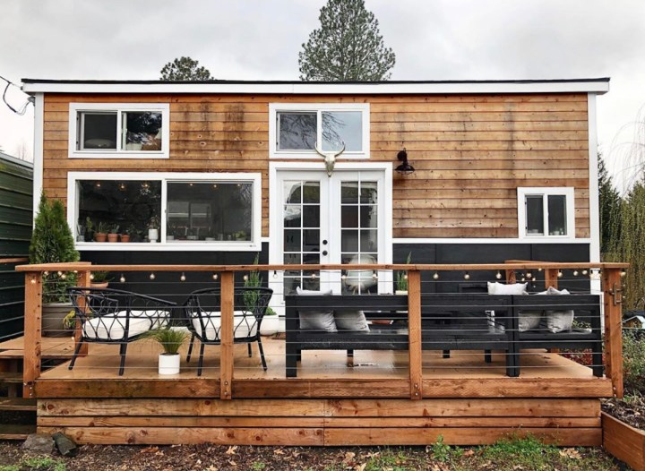 Downsizing from a three-story 1,700 sq ft townhouse to a 324 sq ft  Tiny House
