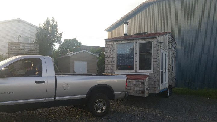 Towing tiny house with dodge ram 1500