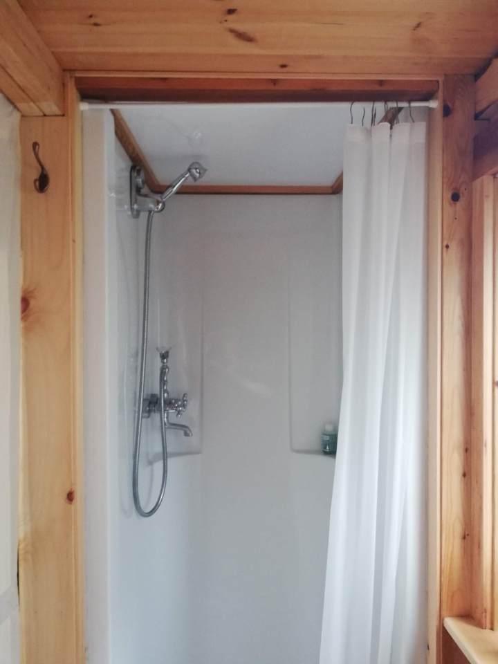 tiny house diy shower