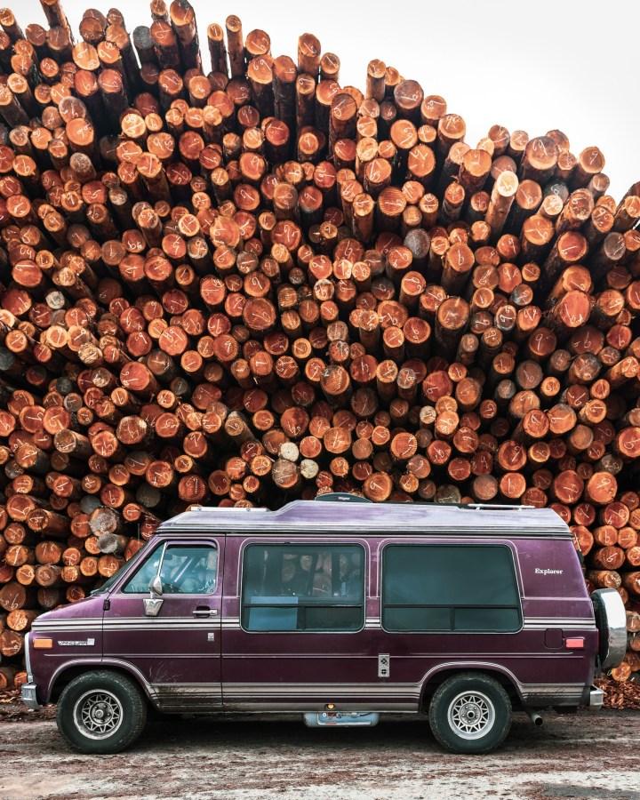 1988 GMC Vandura stuck ofwood