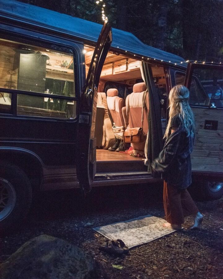 diy lightning in self converted camper van