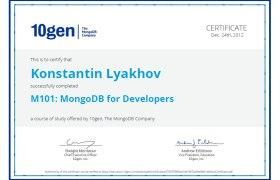 M101: MongoDB for Developers