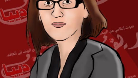 كاريكاتور ريف دييا : الدكتورة ليلى أحكيم