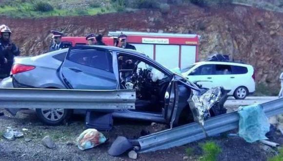 مصرع شخصين في حادثة سير على الطريق الساحلية بين الحسيمة والناظور