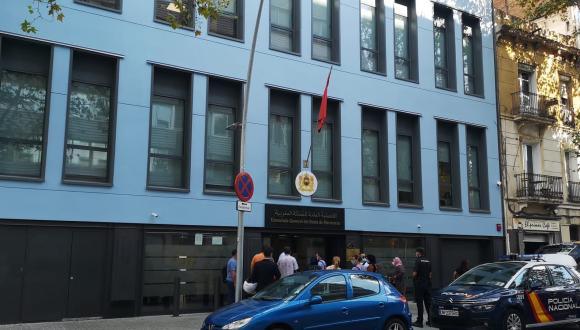 بعد إصابة أحد العاملين بها.. إغلاق القنصلية المغربية ببرشلونة بشكل مؤقت