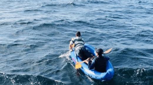 فيديو: انقاذ 8 مهاجرين مغاربة صادفتهم باخرة للمسافرين على متن قوارب كاياك للوصول الى اسبانيا