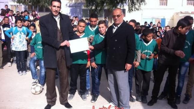 مجموعة مدارس المهدي بن تومرت ببني شيكر بطلا لفرخانة في كرة القدم المصغرة
