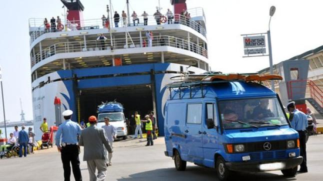 تراجع عدد الوافدين من الجالية على مينائي الناظور والحسيمة