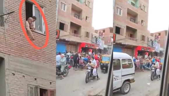 مهندس بترول بمصر يرمي النقود على المارة (فيديو)
