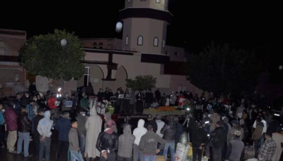 ساكنة زايو تحتج منددة بالتطبيع مع الكيان الصهيوني (+صور)