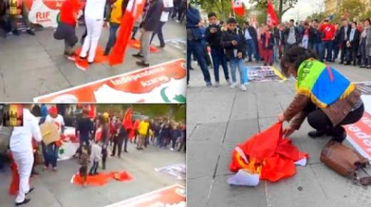 ادانة واسعة لتدنيس وحرق العلم الوطني في مسيرة بباريس