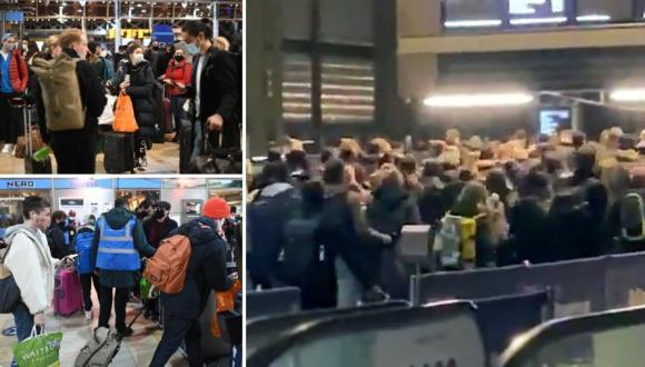 شاهد: بعد ظهور كوفيد 20 فرار المواطنين في بريطانيا عبر المحطات و المطارات قبل تطبيق المستوى الرابع من حالة الطوارئ