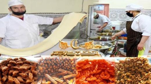 ربورطاج من داخل محل أشهر وأقدم صانع الحلويات الرمضانية بالناظور.. شاهد كيف يتم تحضيرها