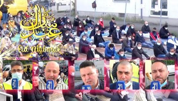 في جو التآخي والإبتهاج.. وقائع صلاة عيد الفطر بمسجد حسان بفرانكفورت (فيديو)