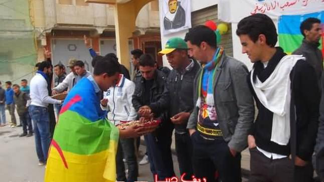 فيديو وصور: تخليد السنة الأمازيغية بأركمان في وقفة إحتجاجية تضامنا مع منكوبي فيضانات الجنوب