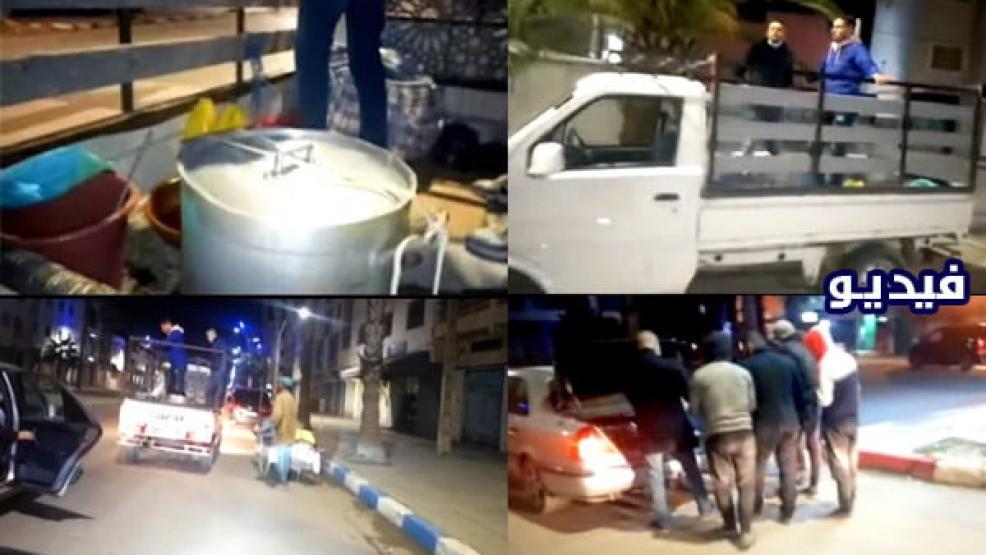 الناظور: جمعية الشفاء للتضامن في حملة ليلية لتوزيع وجبات وملابس على المتشردين بدون مأوى (فيديو)