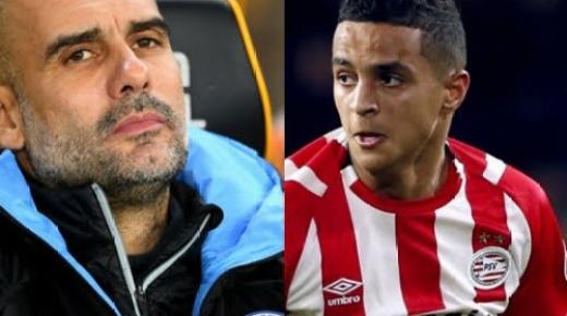 """غوارديولا يتابع المغربي الأصل """"إيحاتارين"""" ويضعه ضمن قائمة المطلوبين بـ """"المان سيتي"""""""