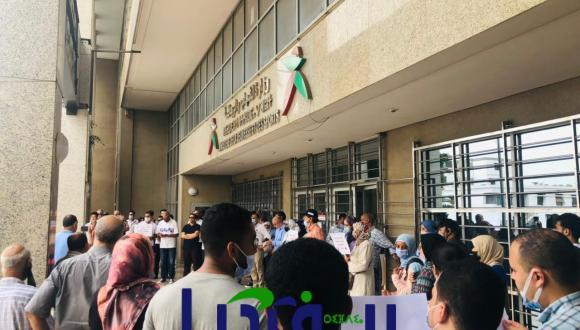 غضب نقابي و طلابي في المعهد الملكي لتكوين الاطر (+صور وقفة احتجاجية)