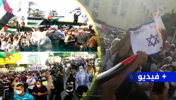 شاهدوا.. وقفة تضامنية بمليلية لدعم الشعب الفلسطيني وتنديدا بجرائم الاحتلال الإسرائيلي