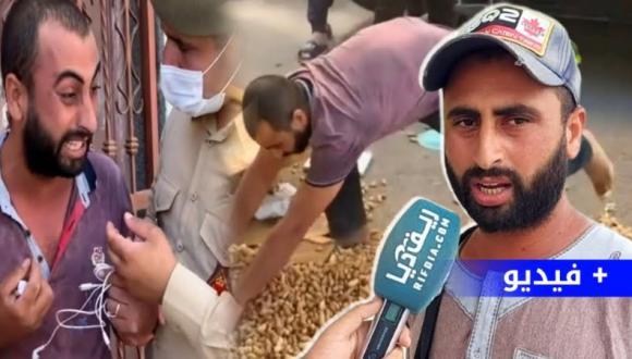 """البائع المتجول بالناظور """"مول الكاوكاو"""" يروي قصة معاناته الطويلة في مواجهة السلطة ويُكَذِب أخبار مساعدته (فيديو)"""