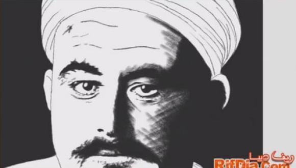 شاهد : رسم صورة المجاهد محمد بن عبد الكريم الخطابي بطريقة رائعة
