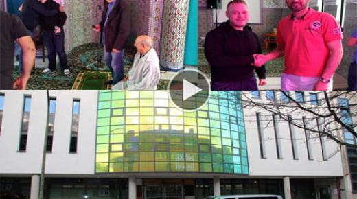 """ألمانيا: """"كريستيان"""" مواطن ألماني نَطقَ الشهادتين وأشهر إسلامه بمسجد التقوى (فيديو وصور)"""