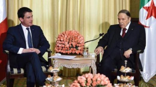 صورة مُؤسفة .. الرئيس الجزائري بوتفليقة يستقبل الوزير الأول الفرنسي في مشهد مُذل