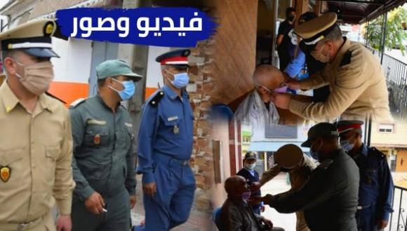 السلطة المحلية ببني شيكر تنظم حملة تحسيسية و توزع الكمامات على المواطنين (فيديو وصور)