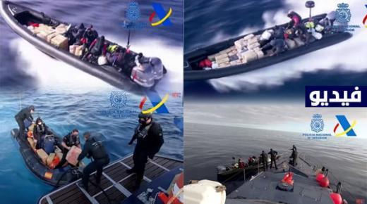 شرطة إسبانيا تعتقل مهربي مخدرات في البحر المتوسط بعد مطاردة مثيرة (+فيديو)