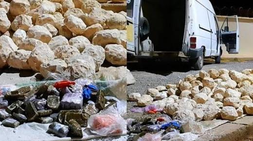 حجز 100 كلغ من مخدر الشيرا بإقليم بركان + صور