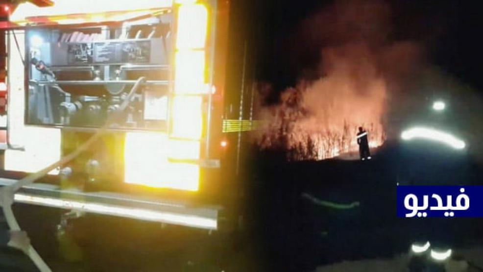 إندلاع حريق نواحي ماريواري بني شيكر والوقاية المدنية تتدخل لإخماده