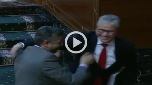 فيديو: نهاية قربالة في مجلس المستشارين بعناق الوردي و بلفقيه