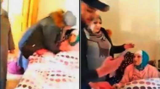 """فيديو مؤثر.. إطلاق نداء على الفايسبوك يعيد عجوزا لأحضان عائلتها بعد 3 سنوات من التشرد """"بخيرية"""""""