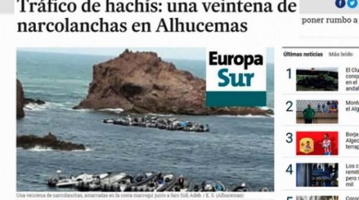 صحيفة اسبانية : عشرات الزوارق تنقل الحشيش من مدينة الحسيمة