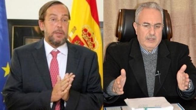 البركاني يتدارس مشكل العمال الحدوديين في لقاء تواصلي مع قنصل اسبانيا فيرناندو موران
