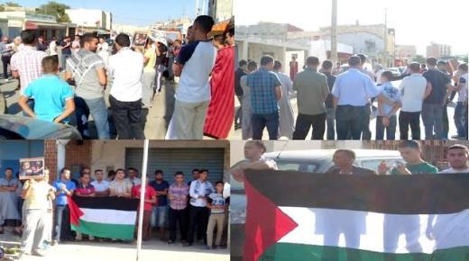 وقفة احتجاجية بقاسيطة –اقليم الدريوش- تضامنا مع الشعب الفلسطيني