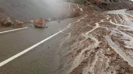 انهيارات صخرية بين الحسيمة وتطوان بسبب الأمطار
