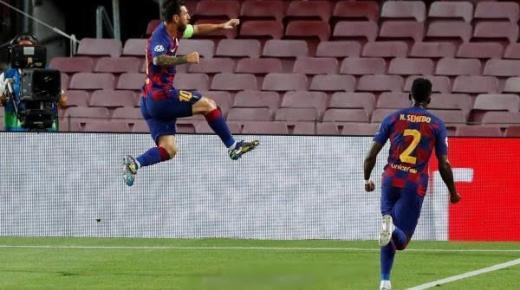 ميسي يقود انتفاضة برشلونة أمام نابولي ويضرب موعدا مع البايرن في دوري ابطال أوروبا