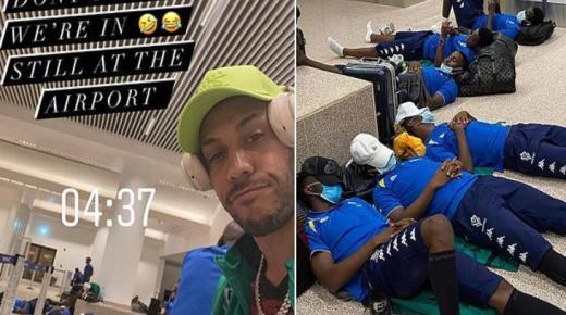"""أوباميانج ينتقد """"كاف"""" بعد نوم لاعبي المنتخب الجابوني في المطار (صور)"""
