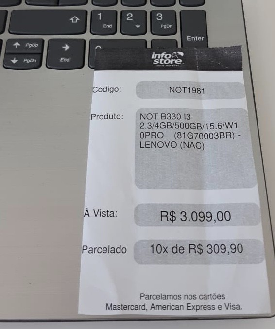 Foto  - Notebook Lenovo